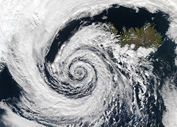 An Icelandic cyclone on September 4, 2003
